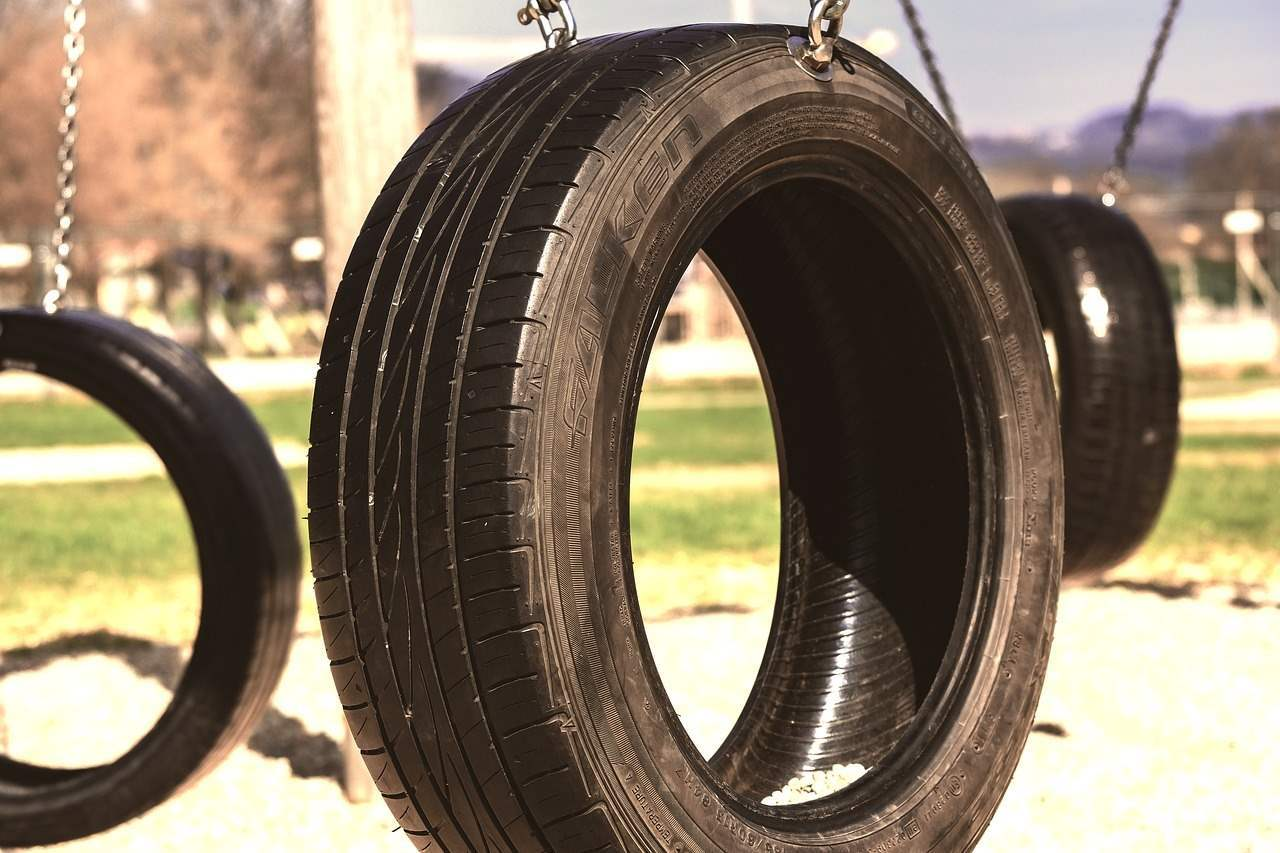 Cracks in tire tread can increase the risk of a tire blowout when the vehicle is in operation.